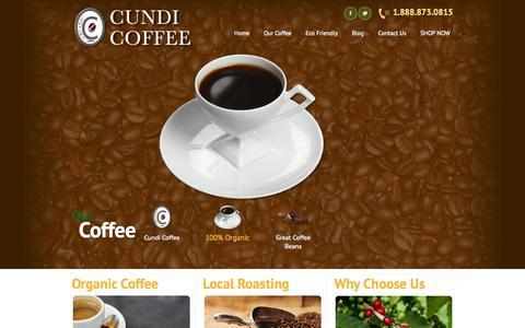 Screenshot of Home Page cundicoffee.com - Cundi Coffee - captured Sept. 30, 2014