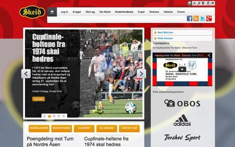 Screenshot of Home Page skeid.no captured Sept. 30, 2014