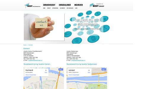 Screenshot of Contact Page bestopleidingen.nl - Contact - captured Oct. 5, 2014