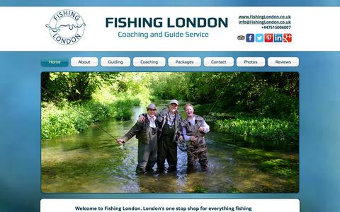 Screenshot of Home Page fishinglondon.co.uk - Fishing London, Angling Coach & Fishing Guide Service, - captured Oct. 6, 2014