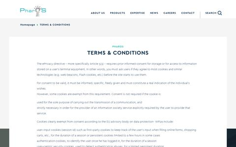 Screenshot of Terms Page pharosgr.gr - Terms & Conditions - PharOS - captured July 28, 2017