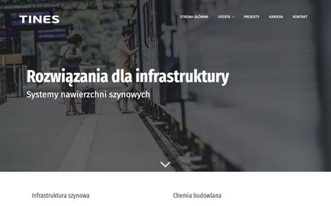 Screenshot of Home Page tinescg.com - Nowoczesne rozwiązania dla infrastruktury i przemysłu   TINES - captured Oct. 21, 2018