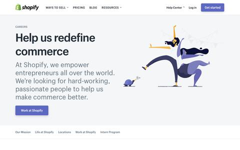 Screenshot of Jobs Page shopify.com - Careers and jobs at Shopify - captured Jan. 1, 2018