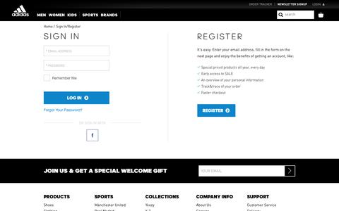 Consumer Goods Login Pages | Website Inspiration and