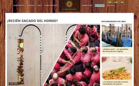 Screenshot of Blog lapiemontesa.com - Inaguraciones La Piemontesa | Novedades La Piemontesa - captured Oct. 11, 2018
