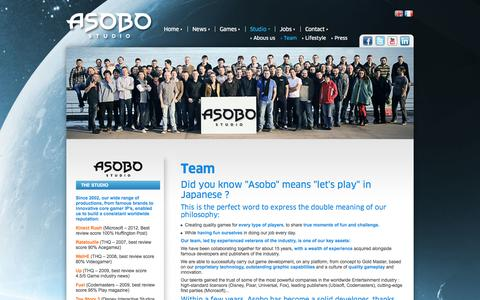 Screenshot of Team Page asobostudio.com - Asobo Studio, a reknown team, skills, talents and technology - captured Oct. 4, 2014