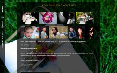Screenshot of Contact Page denver-photographer.com - Denver Portrait Wedding Photographer - Contact Info. - captured Sept. 30, 2014