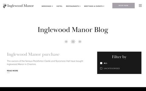 Screenshot of Blog inglewoodmanor.co.uk - News from the Castle | Peckforton Blog - Peckforton Castle - captured Dec. 10, 2018