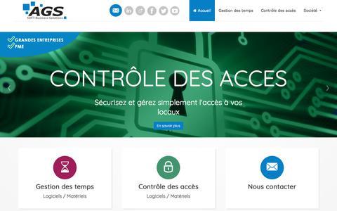 Screenshot of Home Page ags-net.com - AGS - Gestion des Temps & Contrôle des Accès - captured Oct. 6, 2017