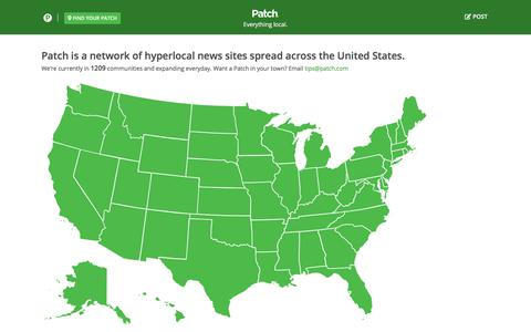 Screenshot of Maps & Directions Page patch.com - All Patch Locations by State | Patch - captured Sept. 30, 2017