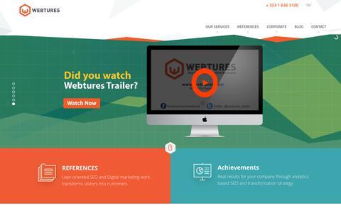 Screenshot of Home Page webtures.com - Webtures SEO Agency - captured Sept. 21, 2018