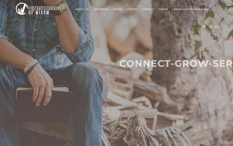 Screenshot of Home Page fbcwixom.org - FBC Wixom – Connect, Grow, & Serve - captured Oct. 18, 2018