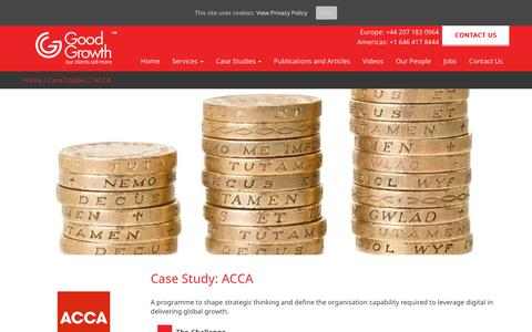 Screenshot of Case Studies Page goodgrowth.co.uk - ACCA - Good Growth - captured Sept. 25, 2017