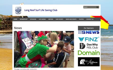 Screenshot of Press Page longreef.com - News - captured Feb. 1, 2016