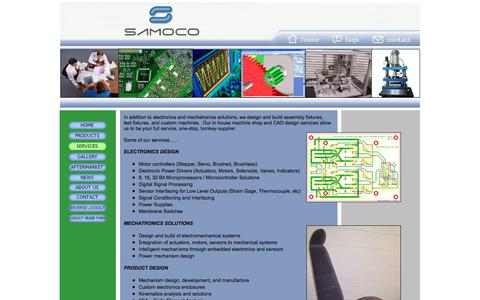 Screenshot of Services Page samocoind.com - SERVICES - captured Feb. 4, 2016