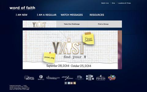 Screenshot of Home Page wordoffaith.cc - Welcome | Word of Faith Int'l Christian Center - captured Oct. 8, 2014