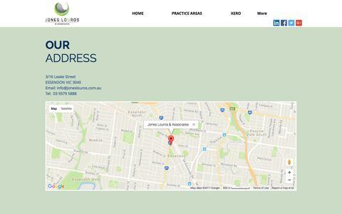 Screenshot of Maps & Directions Page joneslouros.com.au - mysite | MAP - captured Oct. 16, 2017