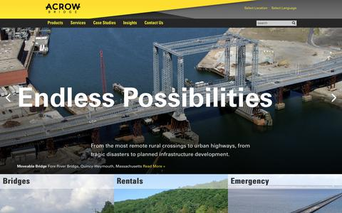 Screenshot of Home Page acrow.com - Acrow Corporation of America - captured Oct. 7, 2017