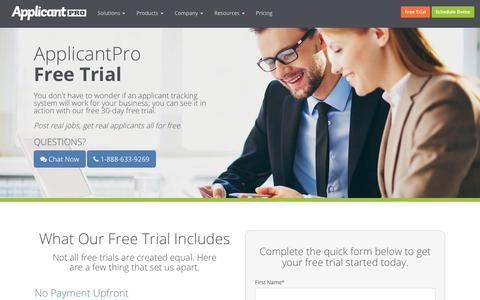 ApplicantPro Free Trial | ApplicantPro