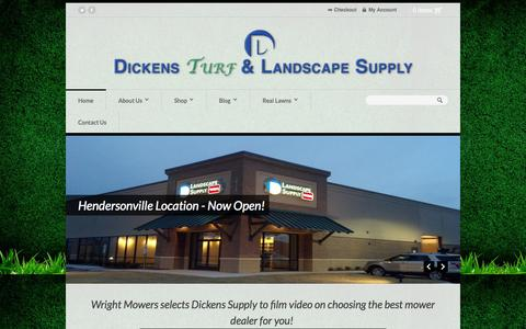 Screenshot of Home Page dickenssupply.com - Home - Dickens Turf and Landscape Supply - captured Oct. 5, 2014