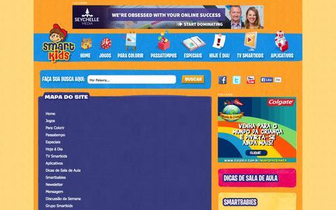 Screenshot of Site Map Page smartkids.com.br - Jogos Educativos, Desenhos para colorir e pintar, Educação infantil - Smartkids - captured Oct. 27, 2014