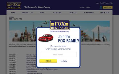FOX TRAVEL TIPS