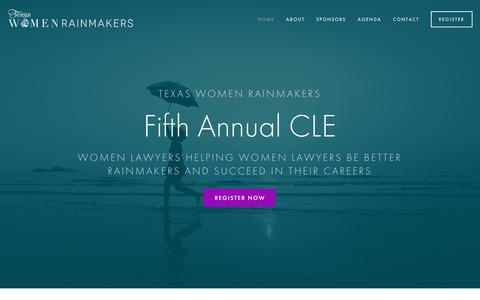 Screenshot of Home Page texaswomenrainmakers.com - Texas Women Rainmakers - captured Oct. 20, 2018