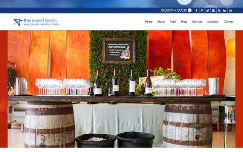 Screenshot of Home Page eventteam.com - The Event Team | Super People. Superior Events. - captured Aug. 15, 2015
