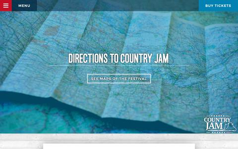 Screenshot of Maps & Directions Page countryjam.com - Directions to Country Jam 2018 | Country Jam - captured Oct. 26, 2018