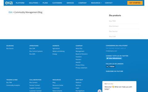 Screenshot of Blog ekaplus.com - Commodity Management Reimagined Blog - captured Aug. 7, 2019