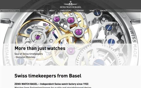 Screenshot of Home Page zeno-watch.ch - ZENO-WATCH BASEL   Independent Swiss Watch Manufacturing - captured Dec. 1, 2016