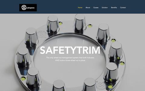 Screenshot of Home Page safetytrim.com - Home | Safetytrim - captured Oct. 4, 2017