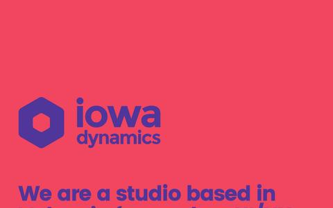 Screenshot of Home Page iowadynamics.com - IOWA Dynamics - UI/UX and web design in Valencia. - captured May 27, 2017