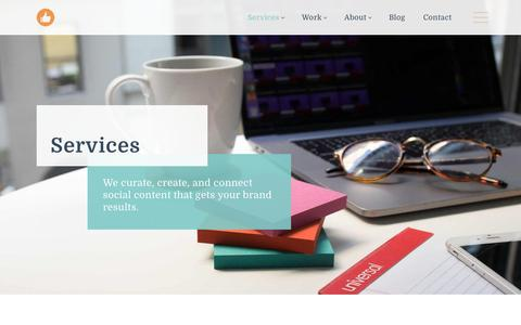 Screenshot of Services Page likeable.com - Social Media Services | Likeable - captured Jan. 15, 2018