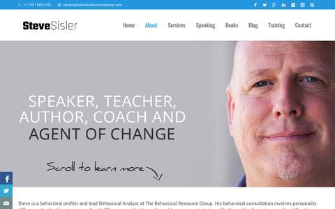 Screenshot of About Page stevesisler.org - About Steve Sisler - Behavioral Analyst Extraordinaire - captured Nov. 3, 2014