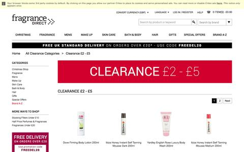 Clearance £2 - £5 | Fragrance Direct