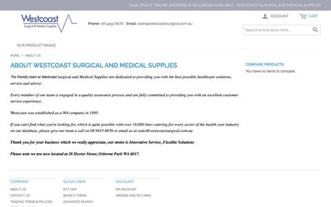 Screenshot of About Page westcoastsurgical.com.au - About Us - captured Sept. 24, 2018