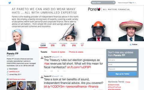 Screenshot of Twitter Page twitter.com - Pareto FP (@ParetoFP)   Twitter - captured Oct. 22, 2014