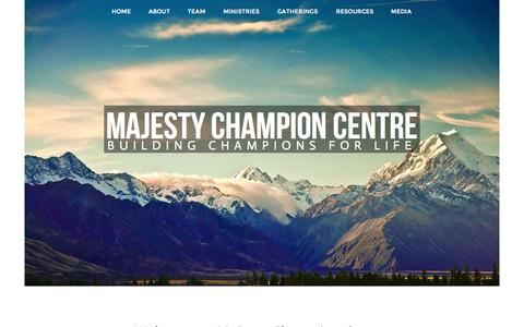 Screenshot of Home Page majestycc.com - Majesty Christian Centre - captured Oct. 4, 2014
