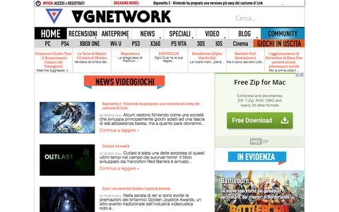 Screenshot of Press Page vgnetwork.it - News Videogiochi - Pagina 1 | VGNetwork.it - captured Oct. 26, 2014