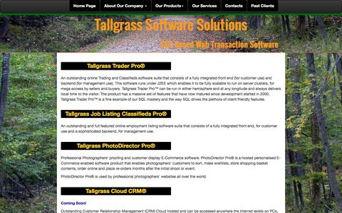 Screenshot of Products Page tallgrass.com.au - Contact Us - captured Feb. 13, 2016