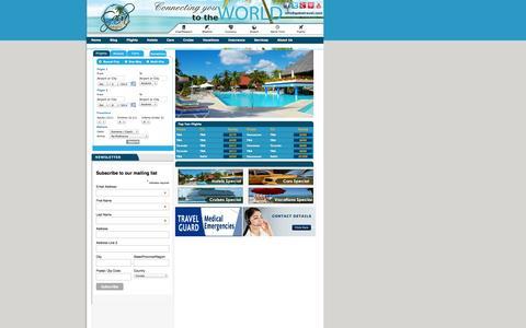 Screenshot of Home Page gabatravel.com - Travel Deals: Flights, Cruises, Vacations and Hotels - Gaba Travel - captured Oct. 1, 2014