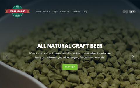 Screenshot of Home Page westcoastbrewery.co.nz - West Coast Brewery | Fresh Beer Starts Here - captured June 12, 2017