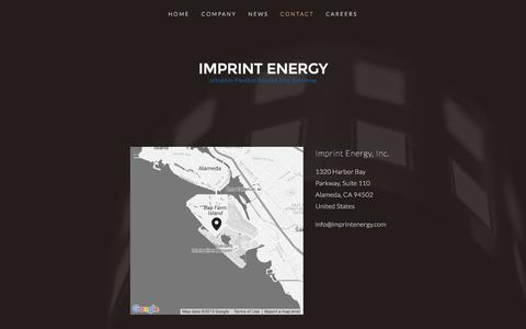 Screenshot of Contact Page imprintenergy.com - Contact Ń Imprint Energy - captured Dec. 22, 2015
