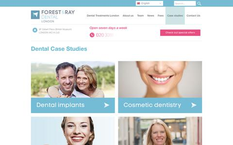 Screenshot of Case Studies Page forest-ray.com - Dental Case Studies | Forest & Ray Dental Practice - captured July 5, 2017