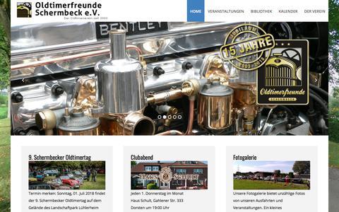 Screenshot of Home Page oldtimerfreunde-schermbeck.de - Oldtimerfreunde Schermbeck e.V. - Der Oldtimerverein seit 2003 - Home - captured June 8, 2018