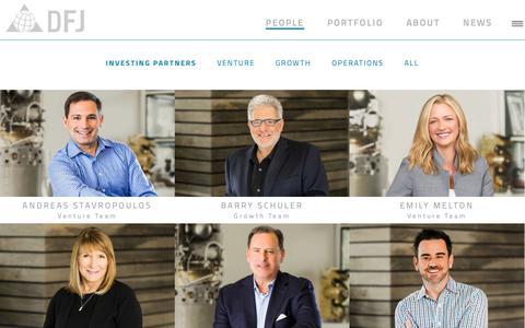 Screenshot of Team Page dfj.com - People | DFJ Venture Capital - captured Nov. 23, 2018