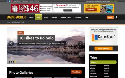 Screenshot of Maps & Directions Page backpacker.com - Backpacking and Hiking Trips | Explore Hiking Trails and Backpacking Routes | Backpacker.com - captured Sept. 22, 2014