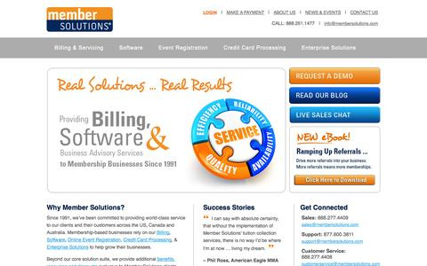 Billing and Member Management Software - Member Solutions
