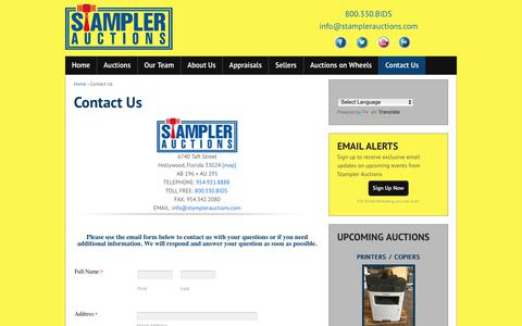 Screenshot of Contact Page stamplerauctions.com - Contact Us - Stampler Auctions - captured June 17, 2017